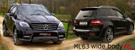 ML63 wide body Expression Motorsport